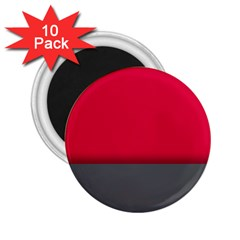 Red Gray Flag Line Horizontal 2 25  Magnets (10 Pack)  by Mariart