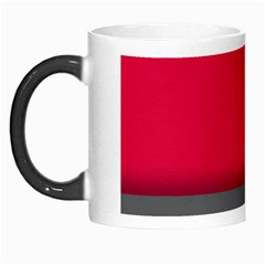 Red Gray Flag Line Horizontal Morph Mugs by Mariart