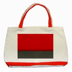 Red Gray Flag Line Horizontal Classic Tote Bag (red) by Mariart