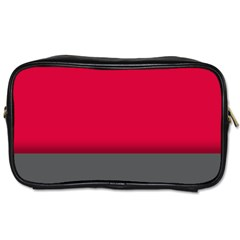 Red Gray Flag Line Horizontal Toiletries Bags 2 Side by Mariart