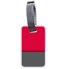Red Gray Flag Line Horizontal Luggage Tags (two Sides) by Mariart