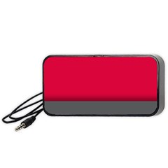 Red Gray Flag Line Horizontal Portable Speaker (black) by Mariart