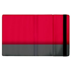 Red Gray Flag Line Horizontal Apple Ipad 3/4 Flip Case by Mariart
