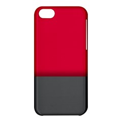 Red Gray Flag Line Horizontal Apple Iphone 5c Hardshell Case by Mariart