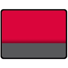 Red Gray Flag Line Horizontal Double Sided Fleece Blanket (large)  by Mariart