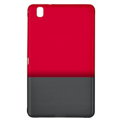 Red Gray Flag Line Horizontal Samsung Galaxy Tab Pro 8 4 Hardshell Case by Mariart