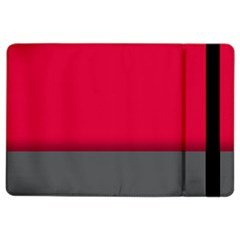 Red Gray Flag Line Horizontal Ipad Air 2 Flip by Mariart