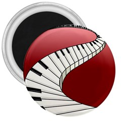 Piano Keys Music 3  Magnets by Mariart