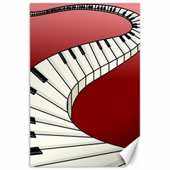 Piano Keys Music Canvas 24  X 36  by Mariart