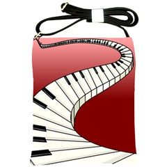 Piano Keys Music Shoulder Sling Bags by Mariart