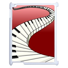 Piano Keys Music Apple Ipad 2 Case (white) by Mariart
