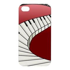 Piano Keys Music Apple Iphone 4/4s Premium Hardshell Case by Mariart