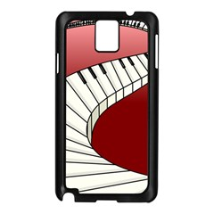 Piano Keys Music Samsung Galaxy Note 3 N9005 Case (black) by Mariart