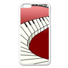 Piano Keys Music Apple Iphone 6 Plus/6s Plus Enamel White Case by Mariart