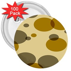 Polka Dots 3  Buttons (100 Pack)  by Mariart
