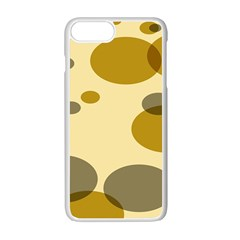Polka Dots Apple Iphone 7 Plus White Seamless Case by Mariart