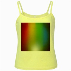 Rainbow Flag Simple Yellow Spaghetti Tank by Mariart