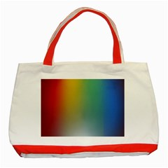 Rainbow Flag Simple Classic Tote Bag (red) by Mariart