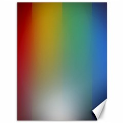 Rainbow Flag Simple Canvas 36  X 48   by Mariart