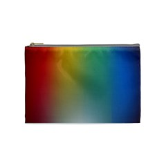 Rainbow Flag Simple Cosmetic Bag (medium)  by Mariart