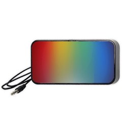 Rainbow Flag Simple Portable Speaker (black) by Mariart