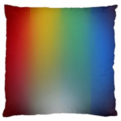 Rainbow Flag Simple Large Cushion Case (two Sides)