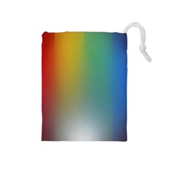 Rainbow Flag Simple Drawstring Pouches (medium)  by Mariart