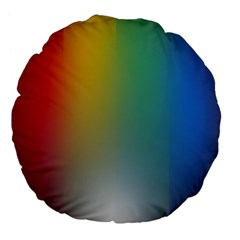 Rainbow Flag Simple Large 18  Premium Flano Round Cushions by Mariart