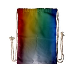 Rainbow Flag Simple Drawstring Bag (small) by Mariart