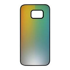 Rainbow Flag Simple Samsung Galaxy S7 Edge Black Seamless Case by Mariart