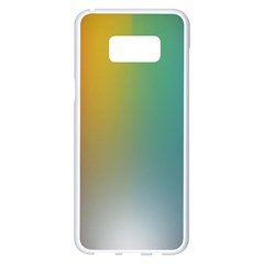 Rainbow Flag Simple Samsung Galaxy S8 Plus White Seamless Case by Mariart