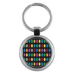 Polka Dots Rainbow Circle Key Chains (round)  by Mariart