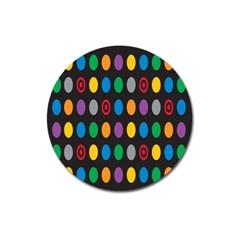 Polka Dots Rainbow Circle Magnet 3  (round)