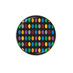 Polka Dots Rainbow Circle Hat Clip Ball Marker (4 Pack) by Mariart