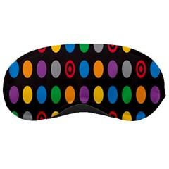 Polka Dots Rainbow Circle Sleeping Masks by Mariart