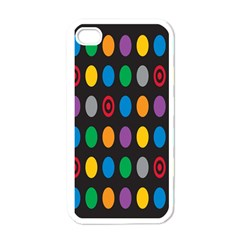 Polka Dots Rainbow Circle Apple Iphone 4 Case (white) by Mariart