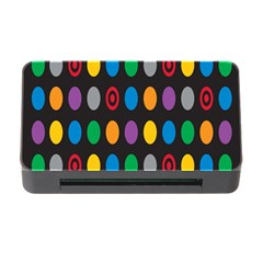 Polka Dots Rainbow Circle Memory Card Reader With Cf by Mariart