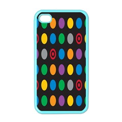 Polka Dots Rainbow Circle Apple Iphone 4 Case (color) by Mariart