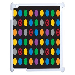 Polka Dots Rainbow Circle Apple Ipad 2 Case (white) by Mariart