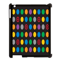 Polka Dots Rainbow Circle Apple Ipad 3/4 Case (black) by Mariart