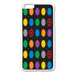 Polka Dots Rainbow Circle Apple Iphone 6 Plus/6s Plus Enamel White Case by Mariart