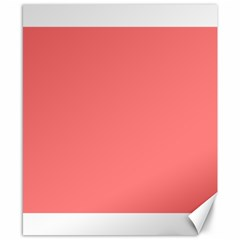 Coral Solid Color  Canvas 8  X 10  by SimplyColor