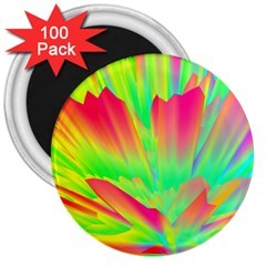 Screen Random Images Shadow Green Yellow Rainbow Light 3  Magnets (100 Pack) by Mariart