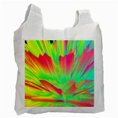 Screen Random Images Shadow Green Yellow Rainbow Light Recycle Bag (one Side) by Mariart