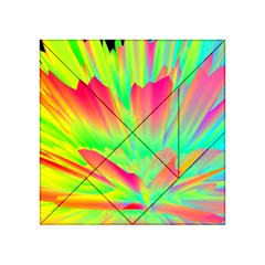 Screen Random Images Shadow Green Yellow Rainbow Light Acrylic Tangram Puzzle (4  X 4 )