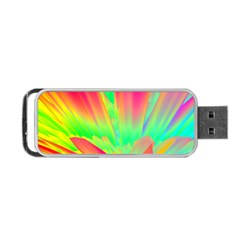 Screen Random Images Shadow Green Yellow Rainbow Light Portable Usb Flash (two Sides) by Mariart