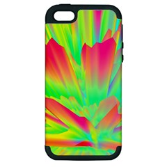 Screen Random Images Shadow Green Yellow Rainbow Light Apple Iphone 5 Hardshell Case (pc+silicone) by Mariart