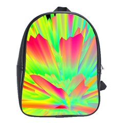 Screen Random Images Shadow Green Yellow Rainbow Light School Bags (xl)  by Mariart