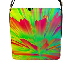 Screen Random Images Shadow Green Yellow Rainbow Light Flap Messenger Bag (l)  by Mariart