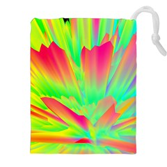 Screen Random Images Shadow Green Yellow Rainbow Light Drawstring Pouches (xxl) by Mariart